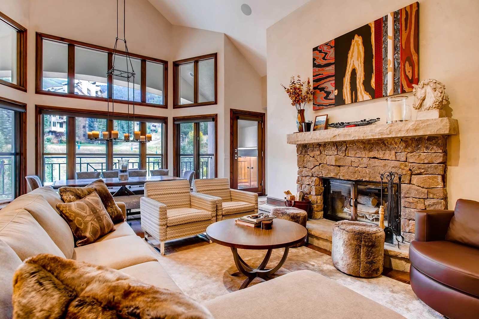 Beaver Creek Mountain Lodging Hyatt Residences Living Room