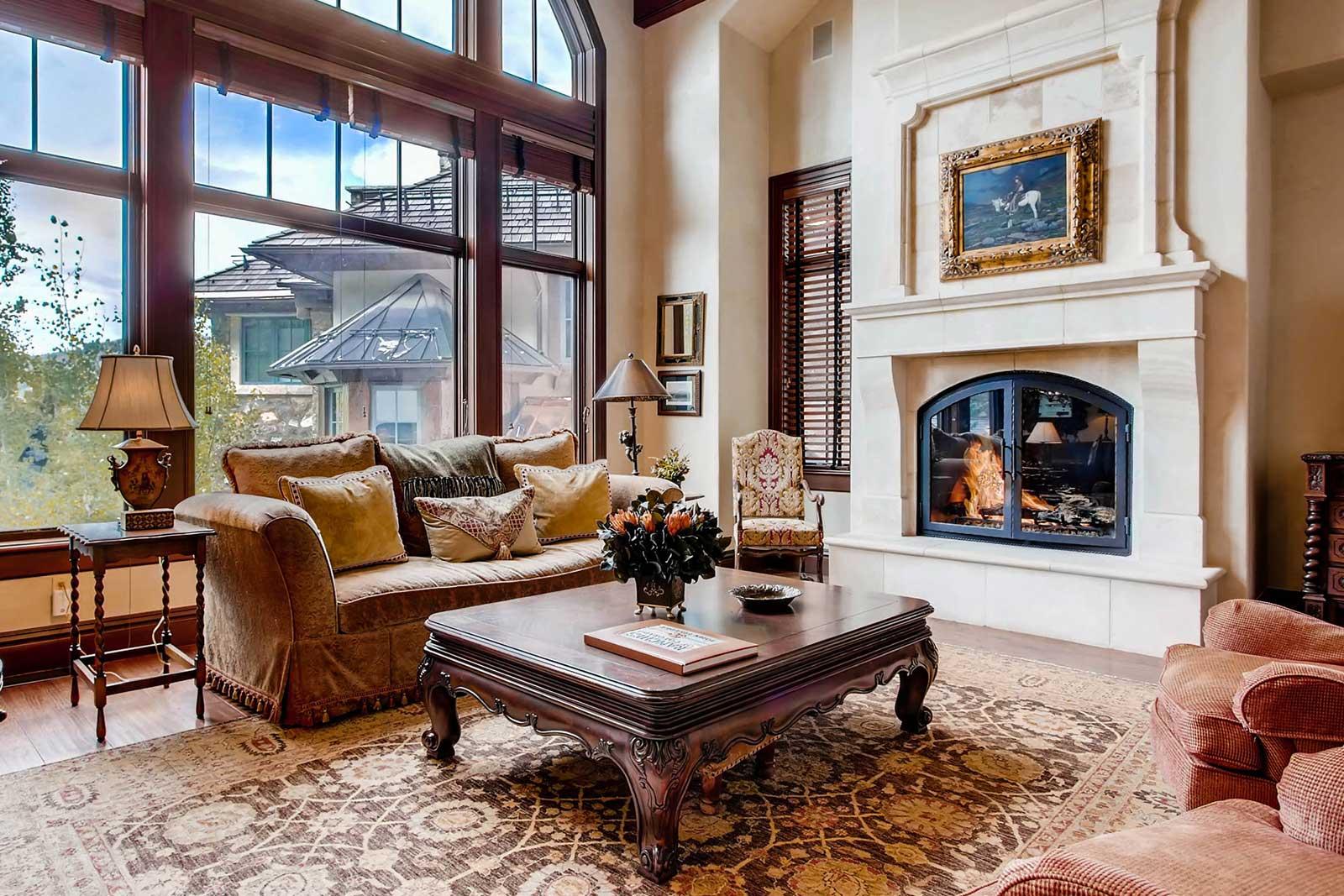 Beaver Creek Mountain Lodging Village Walk 170 Living Room